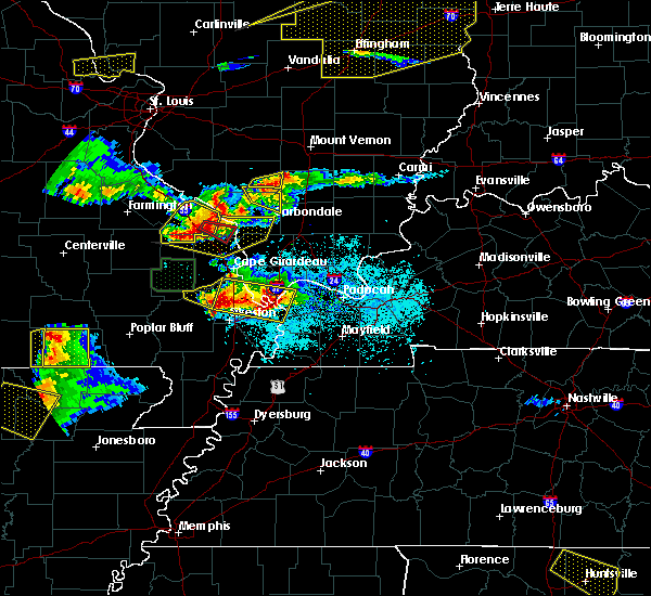 Radar Image for Severe Thunderstorms near Bell City, MO at 4/8/2020 6:39 PM CDT