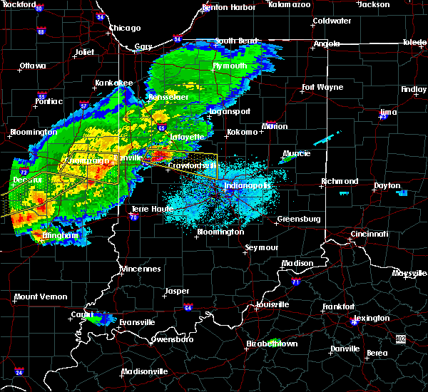 Radar Image for Severe Thunderstorms near Oakwood, IL at 4/8/2020 6:41 PM CDT