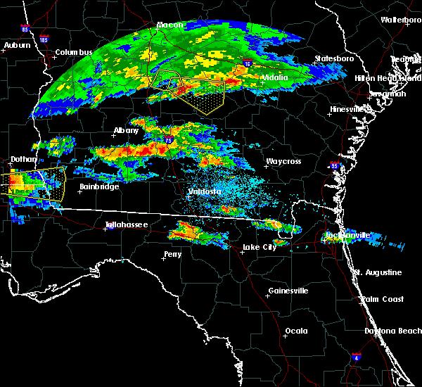 Radar Image for Severe Thunderstorms near Omega, GA at 4/8/2020 7:44 PM EDT