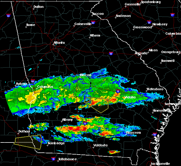 Radar Image for Severe Thunderstorms near Rhine, GA at 4/8/2020 7:47 PM EDT