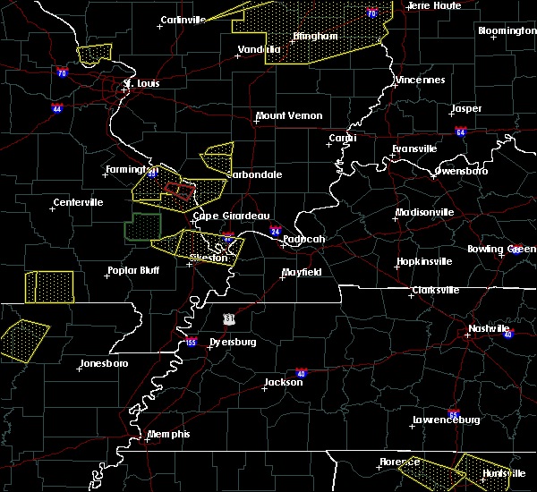 Radar Image for Severe Thunderstorms near Anniston, MO at 4/8/2020 6:53 PM CDT