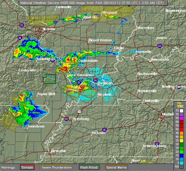 Radar Image for Severe Thunderstorms near Alto Pass, IL at 4/8/2020 6:54 PM CDT