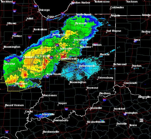 Radar Image for Severe Thunderstorms near Bainbridge, IN at 4/8/2020 7:58 PM EDT