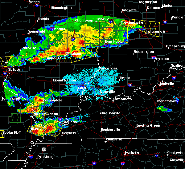 Radar Image for Severe Thunderstorms near Sigel, IL at 4/8/2020 7:05 PM CDT
