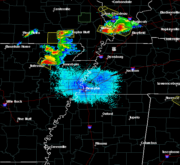 Radar Image for Severe Thunderstorms near Alicia, AR at 4/8/2020 7:06 PM CDT