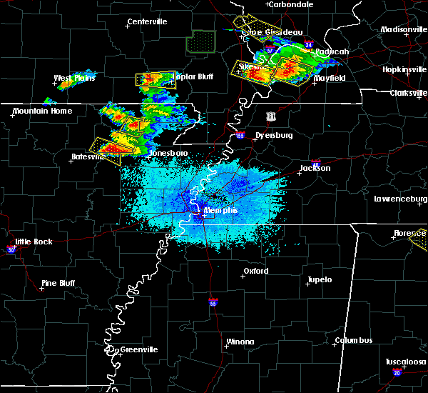 Radar Image for Severe Thunderstorms near Alicia, AR at 4/8/2020 7:11 PM CDT