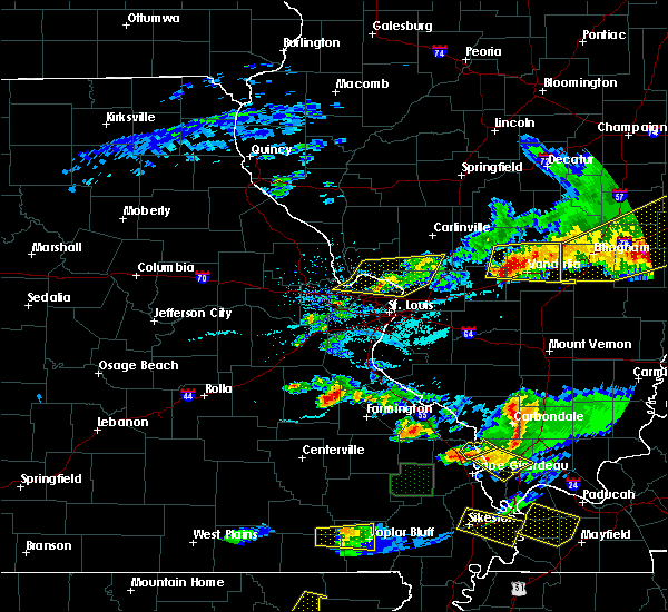 Radar Image for Severe Thunderstorms near Lakeshire, MO at 4/8/2020 7:16 PM CDT