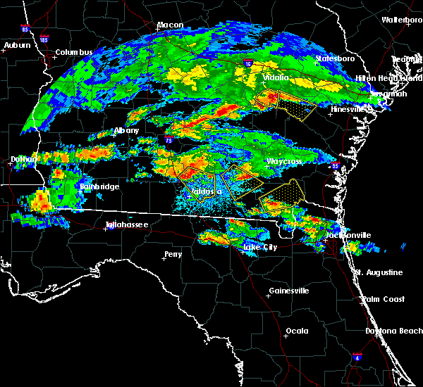 Radar Image for Severe Thunderstorms near Lakeland, GA at 4/8/2020 8:29 PM EDT