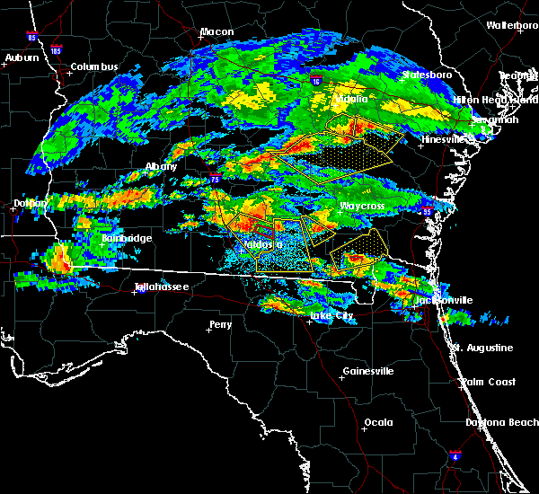 Radar Image for Severe Thunderstorms near Lakeland, GA at 4/8/2020 8:34 PM EDT