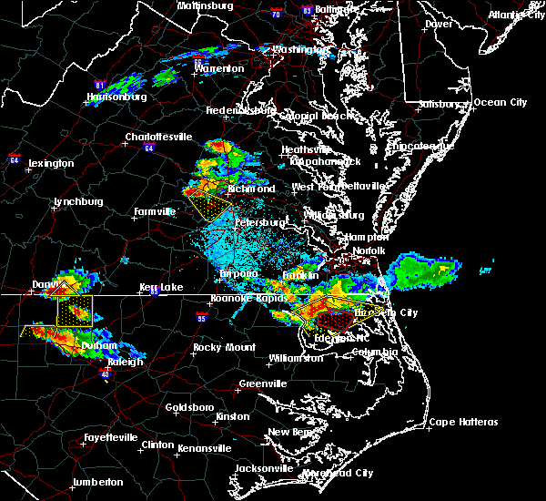 Radar Image for Severe Thunderstorms near Brandermill, VA at 6/25/2015 6:48 PM EDT