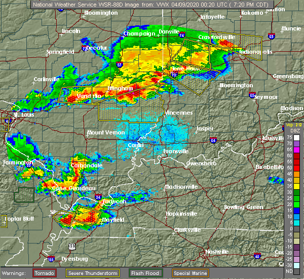 Radar Image for Severe Thunderstorms near Browns, IL at 4/8/2020 7:34 PM CDT
