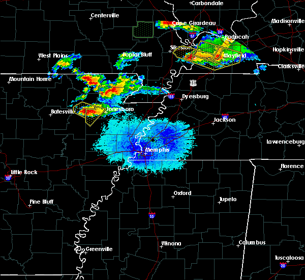 Radar Image for Severe Thunderstorms near Alicia, AR at 4/8/2020 7:35 PM CDT