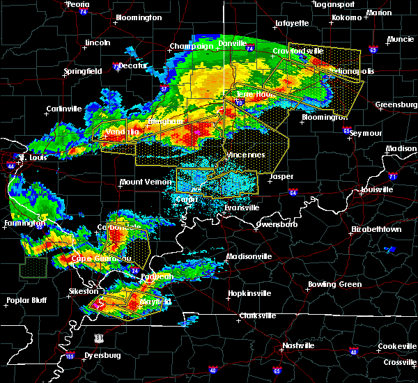 Radar Image for Severe Thunderstorms near Johnsonville, IL at 4/8/2020 7:39 PM CDT