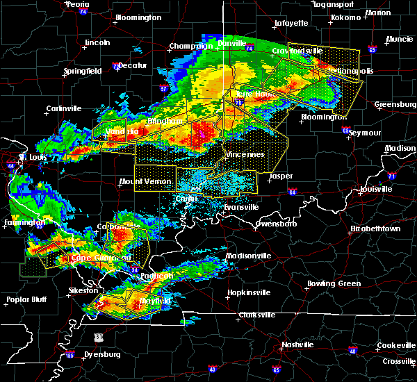 Radar Image for Severe Thunderstorms near Bridgeport, IL at 4/8/2020 7:40 PM CDT