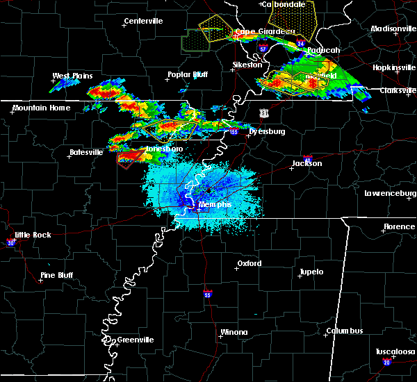 Radar Image for Severe Thunderstorms near Senath, MO at 4/8/2020 7:50 PM CDT