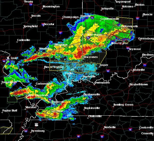 Radar Image for Severe Thunderstorms near Farina, IL at 4/8/2020 7:56 PM CDT