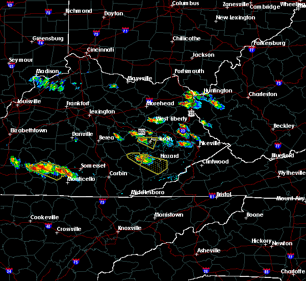 Radar Image for Severe Thunderstorms near Jackson, KY at 6/25/2015 6:50 PM EDT