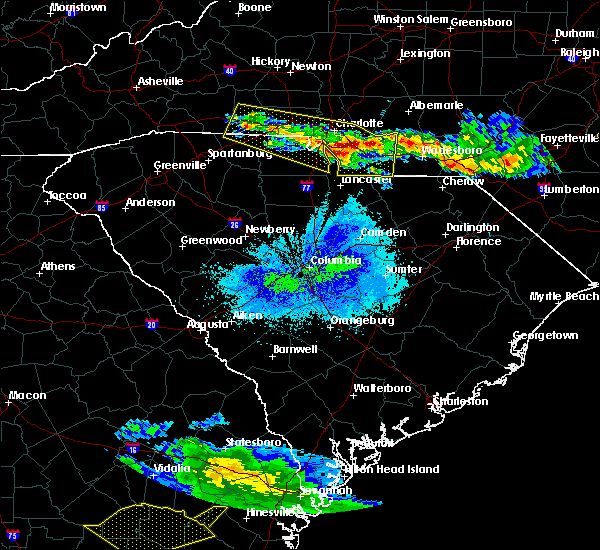 Radar Image for Severe Thunderstorms near Wingate, NC at 4/8/2020 8:59 PM EDT