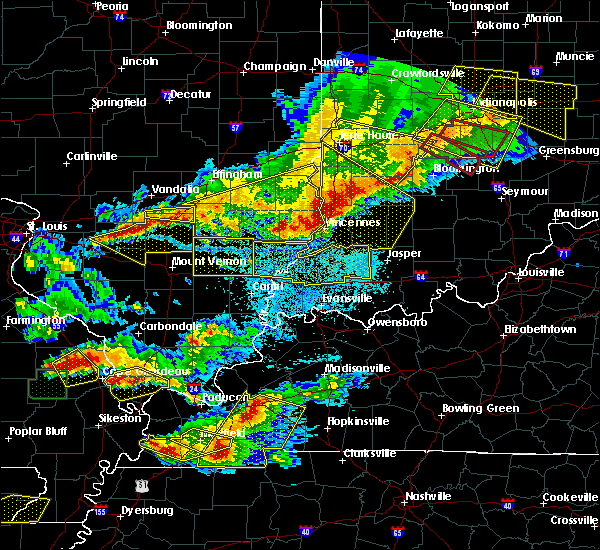 Radar Image for Severe Thunderstorms near Monroe City, IN at 4/8/2020 9:02 PM EDT