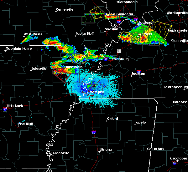 Radar Image for Severe Thunderstorms near Senath, MO at 4/8/2020 8:04 PM CDT