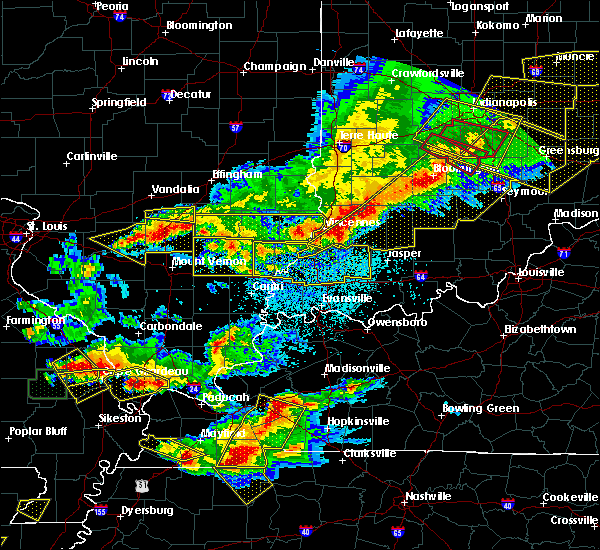 Radar Image for Severe Thunderstorms near Monroe City, IN at 4/8/2020 9:19 PM EDT
