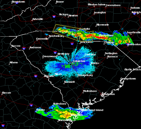 Radar Image for Severe Thunderstorms near JAARS, NC at 4/8/2020 9:31 PM EDT