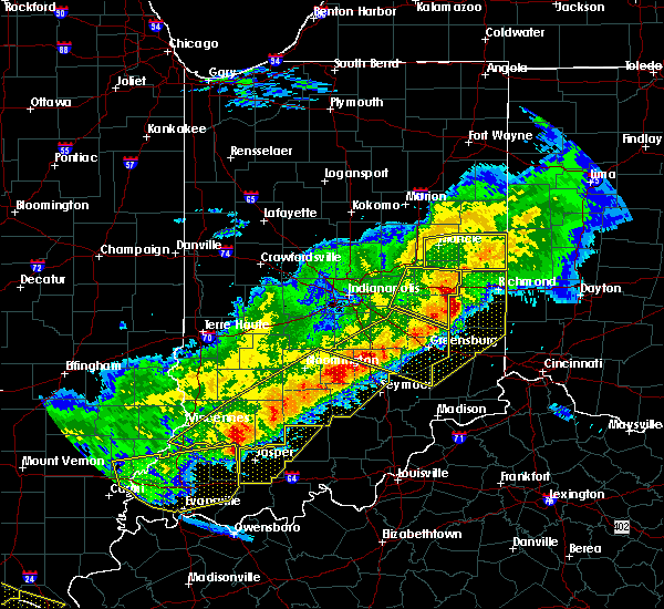 Radar Image for Severe Thunderstorms near Lynn, IN at 4/8/2020 9:37 PM EDT