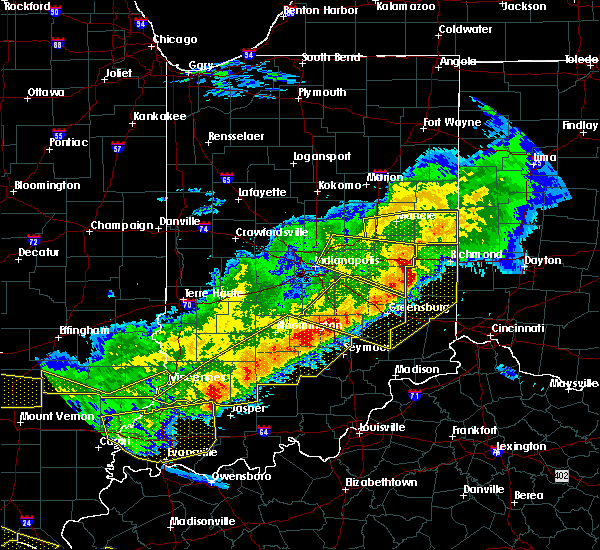 Radar Image for Severe Thunderstorms near Mount Auburn, IN at 4/8/2020 9:36 PM EDT