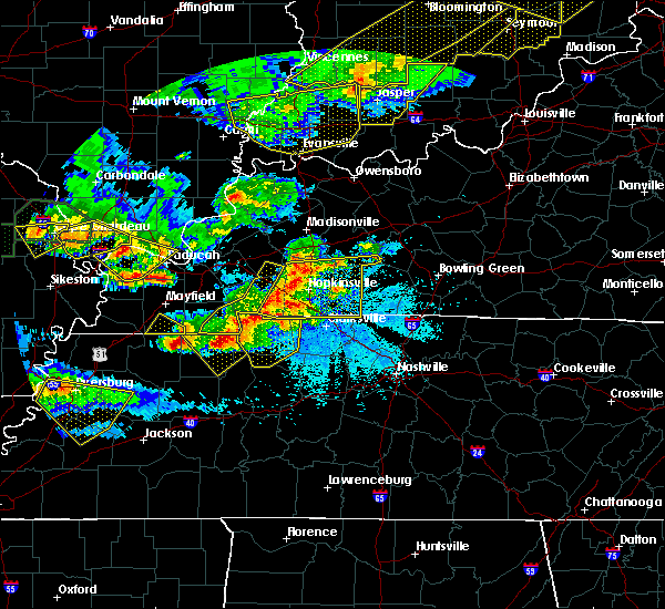 Radar Image for Severe Thunderstorms near Puryear, TN at 4/8/2020 8:40 PM CDT
