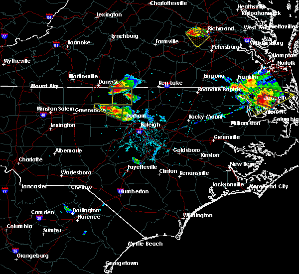 Radar Image for Severe Thunderstorms near Woodlawn, NC at 6/25/2015 6:54 PM EDT