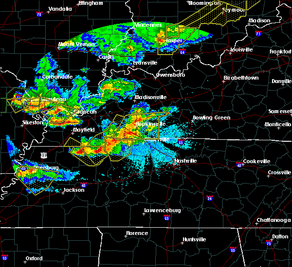 Radar Image for Severe Thunderstorms near Cumberland City, TN at 4/8/2020 8:45 PM CDT