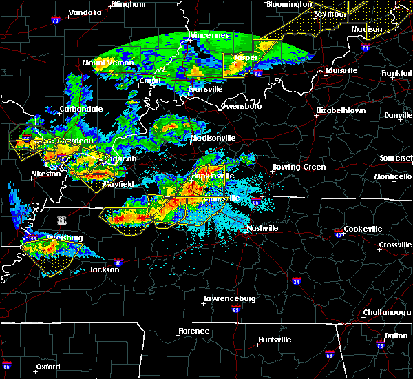Radar Image for Severe Thunderstorms near Clarksville, TN at 4/8/2020 9:00 PM CDT