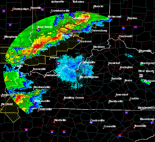Radar Image for Severe Thunderstorms near Hanover, IN at 4/8/2020 10:01 PM EDT