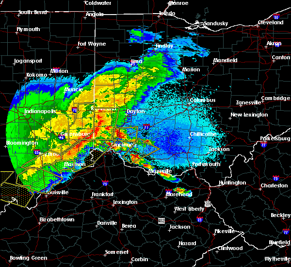 Radar Image for Severe Thunderstorms near Cleves, OH at 4/8/2020 10:10 PM EDT