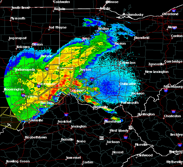Radar Image for Severe Thunderstorms near Dunlap, OH at 4/8/2020 10:21 PM EDT
