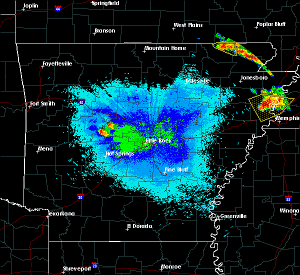 Radar Image for Severe Thunderstorms near Perryville, AR at 4/8/2020 9:26 PM CDT