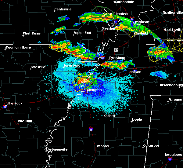 Radar Image for Severe Thunderstorms near Cardwell, MO at 4/8/2020 9:30 PM CDT