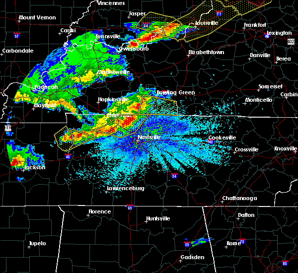 Radar Image for Severe Thunderstorms near Ridgetop, TN at 4/8/2020 9:39 PM CDT