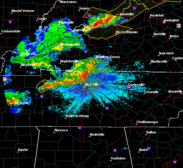 Radar Image for Severe Thunderstorms near La Vergne, TN at 4/8/2020 9:44 PM CDT