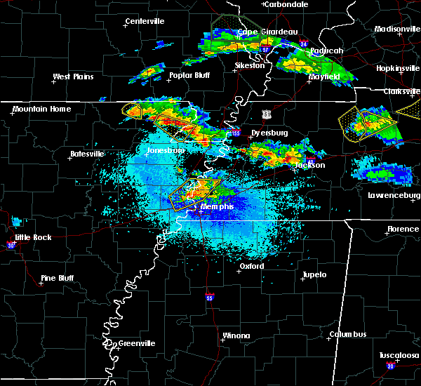 Radar Image for Severe Thunderstorms near Senath, MO at 4/8/2020 9:47 PM CDT