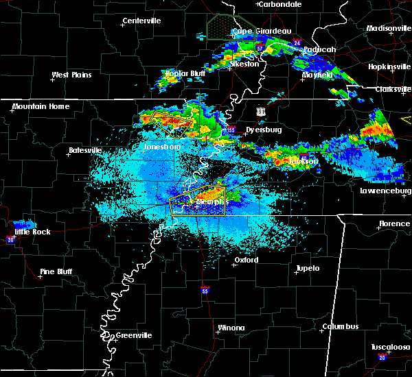 Radar Image for Severe Thunderstorms near Collierville, TN at 4/8/2020 10:02 PM CDT