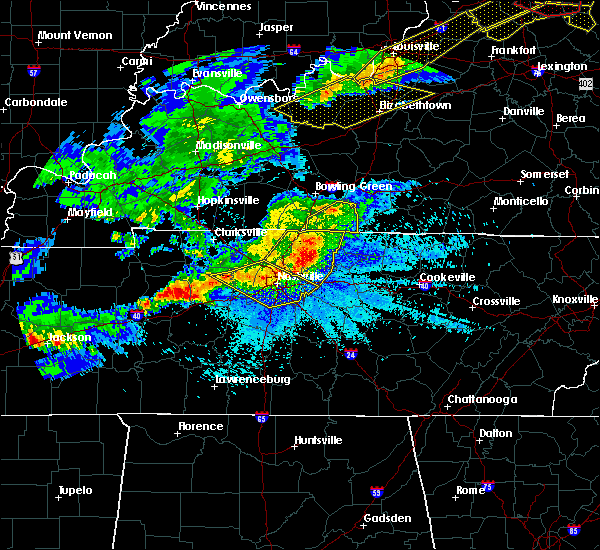 Radar Image for Severe Thunderstorms near Mount Juliet, TN at 4/8/2020 10:05 PM CDT