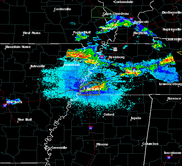 Radar Image for Severe Thunderstorms near Senath, MO at 4/8/2020 10:15 PM CDT