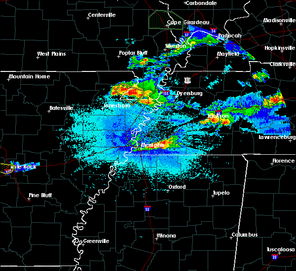 Radar Image for Severe Thunderstorms near Collierville, TN at 4/8/2020 10:20 PM CDT