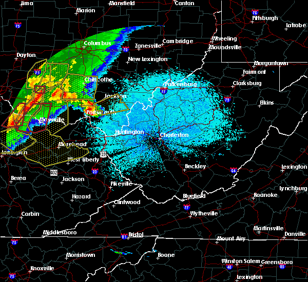 Radar Image for Severe Thunderstorms near Jackson, OH at 4/8/2020 11:22 PM EDT