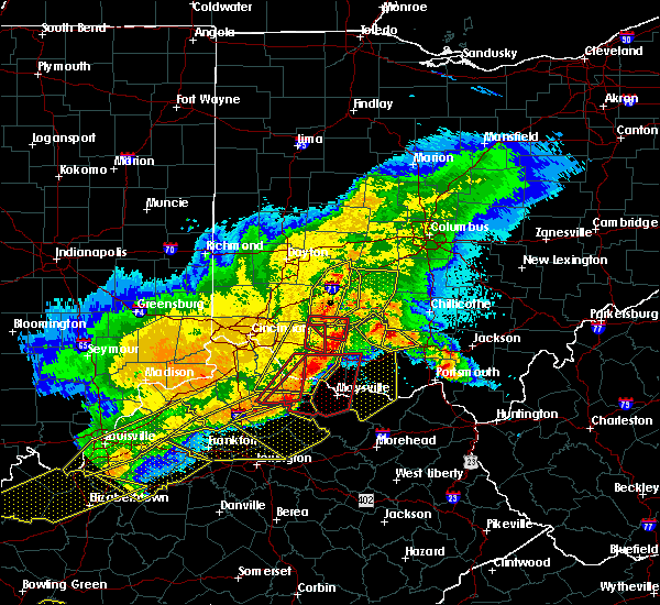 Radar Image for Severe Thunderstorms near Hillsboro, OH at 4/8/2020 11:24 PM EDT