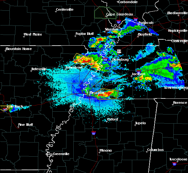 Radar Image for Severe Thunderstorms near Collierville, TN at 4/8/2020 10:33 PM CDT