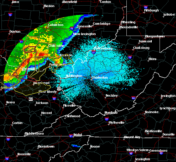 Radar Image for Severe Thunderstorms near Jackson, OH at 4/8/2020 11:34 PM EDT
