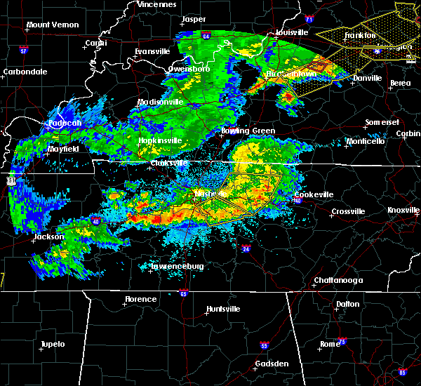Radar Image for Severe Thunderstorms near Murfreesboro, TN at 4/8/2020 10:46 PM CDT