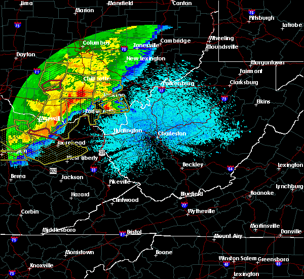 Radar Image for Severe Thunderstorms near Gallipolis, OH at 4/8/2020 11:55 PM EDT
